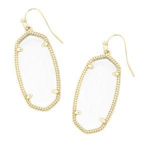 Kendra Scott Elle Earrings in White / Gold